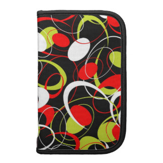 Colorful Circles & Oval Shapes Pattern Folio Planner