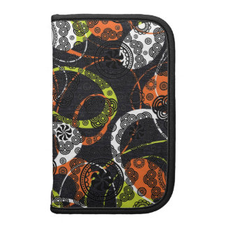 Colorful Circles & Oval Shapes Pattern Folio Planners