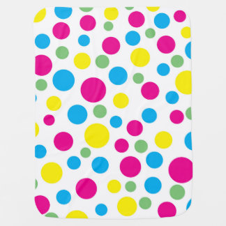 Colorful circles pattern baby blanket
