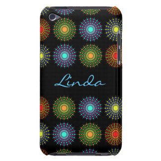 Colorful Circles Pattern Print Typography iPod Touch Case