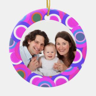 Colorful Circles/Photo Ornament