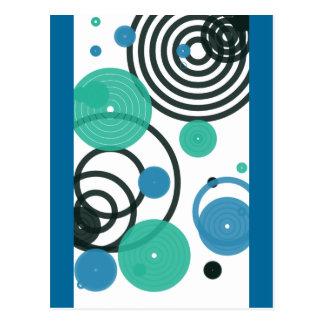 Colorful Circles Postcard
