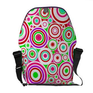 Colorful Circles Rickshaw Messenger Bag