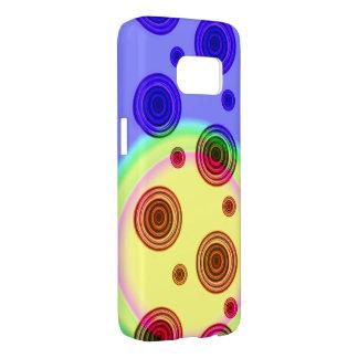 colorful circles samsung galaxy s7 case