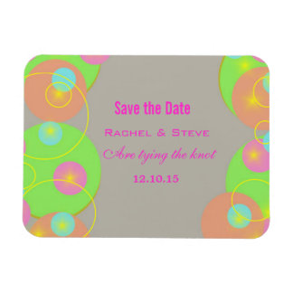 Colorful Circles Save the Date Flexi Magnet