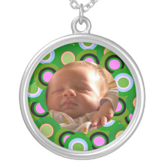 Colorful Circles Silver Plated Necklace
