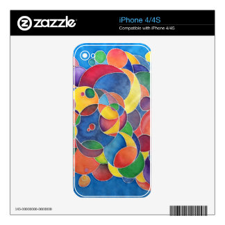 Colorful Circles Skin Skins For The iPhone 4