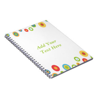 Colorful Circles Spiral Notebook