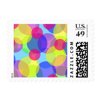 Colorful circles stamps