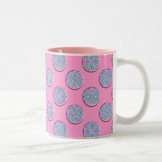 Colorful circles Two-Tone coffee mug