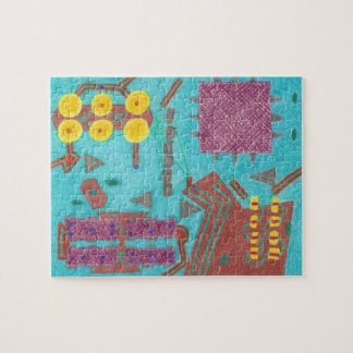 Colorful Circuits Stylized Circuit Board Puzzle