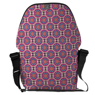 Colorful Circular Repeating Abstract Pattern Courier Bag