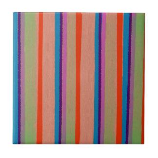 Colorful Circus Clown Stripes Ceramic Tile