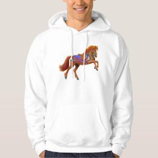 Colorful Circus Horse Hooded Sweatshirt
