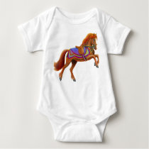 Colorful Circus Horse Infant Baby Bodysuit