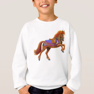Colorful Circus Horse Kids Sweatshirt