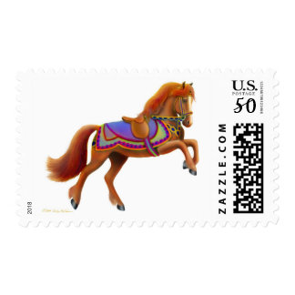 Colorful Circus Horse Postage