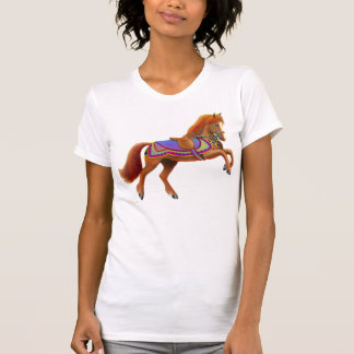 Colorful Circus Horse Scoop Neck T-Shirt