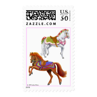 Colorful Circus Horses Postage