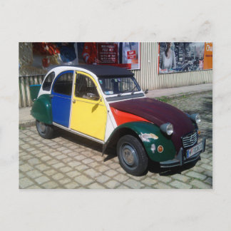 Colorful Citroen 2 CV Postcard