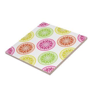Colorful Citrus Slices Tile