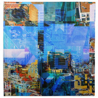 Colorful City Collage Napkin