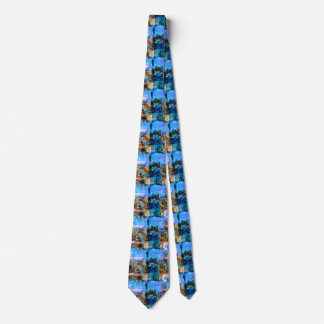 Colorful City Collage Tie