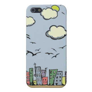 Colorful City Cover For iPhone 5