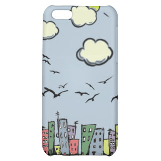 Colorful City Cover For iPhone 5C