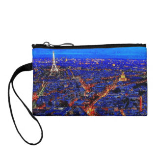 Colorful City Life Key Coin Clutch