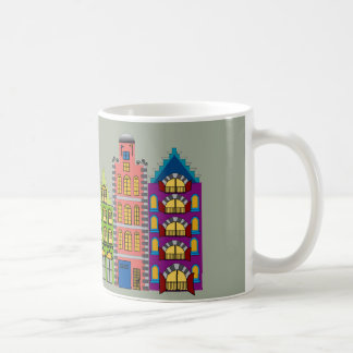 Colorful City Street Scene on Coffee/Tea Mug