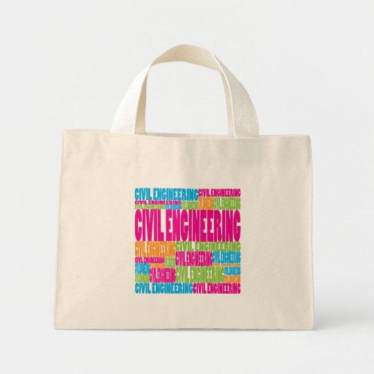 Colorful Civil Engineering Mini Tote Bag