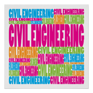 Colorful Civil Engineering Poster