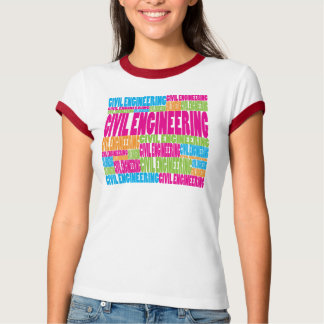 Colorful Civil Engineering T-Shirt