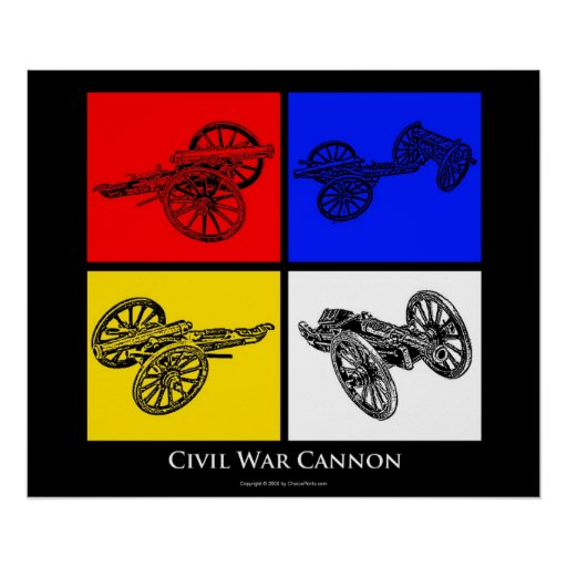 Colorful Civil War Cannons Poster