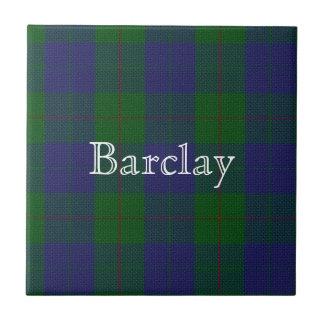 Colorful Clan Barclay Tartan Plaid Custom Tile