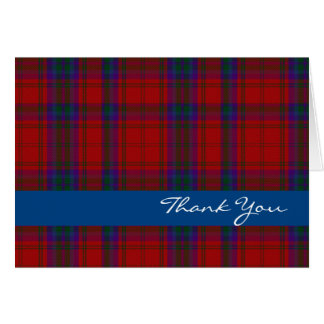 Colorful Clan MacDougall Plaid Thank You Card