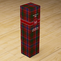 Colorful Clan MacRae Plaid Custom Wine Box