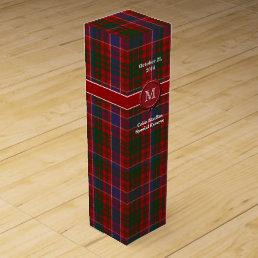 Colorful Clan MacRae Plaid Custom Wine Box