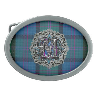 Colorful Clan MacThomas Monogram Belt Buckle