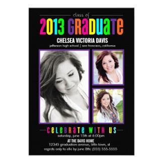 Colorful Class of 2013 Graduate Photo Invite