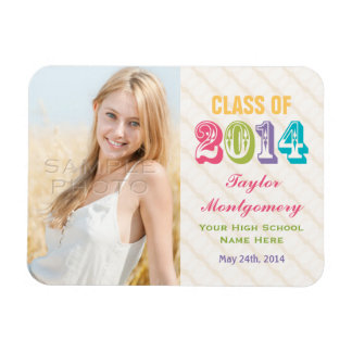 Colorful Class of 2014 Graduation Photo Magnet