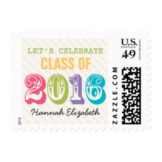 Colorful Class of 2016 Postage