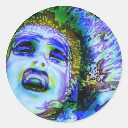 Colorful Classic Round Sticker
