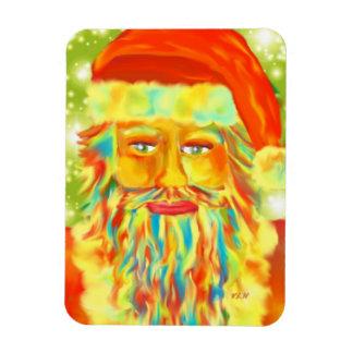 """Colorful Claus"" Santa Art By Victoria Lynn Hall Rectangular Photo Magnet"