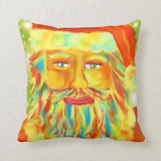 """""""Colorful Claus"""" Santa Art Throw Pillows"""