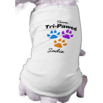 Colorful Claws and Paws Three Legged Dog Shirt