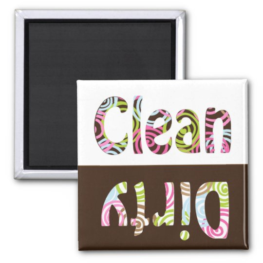 Colorful Clean/Dirty Dish Washer Magnet
