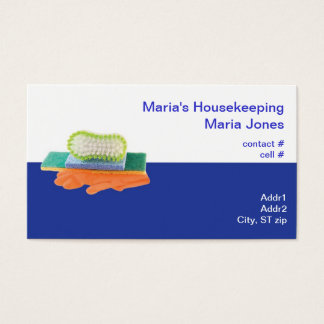 colorful cleaning supplies business card