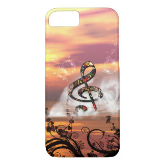 Colorful clef in the sunset iPhone 7 case